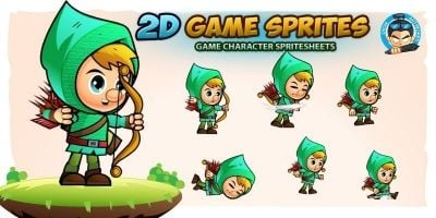 Archer02  Game Character Sprites
