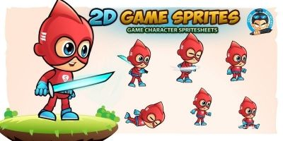 Super Boy001 Character Sprites
