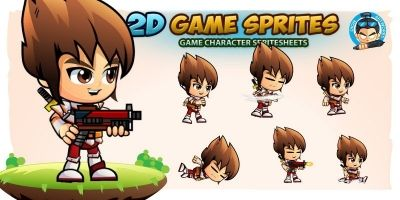 Gushion 2D Game Sprites