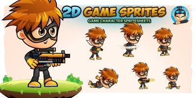 SuperBam 2D Game Sprites