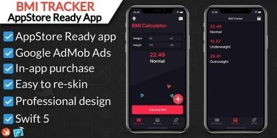 BMI Calculator and Tracker App iOS
