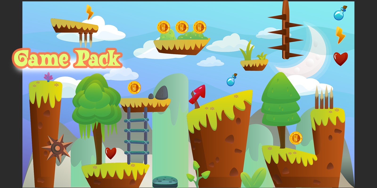 Game Pack Run And Jump Assets 1