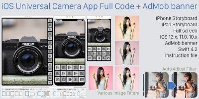 iOS Universal Camera App Full Code