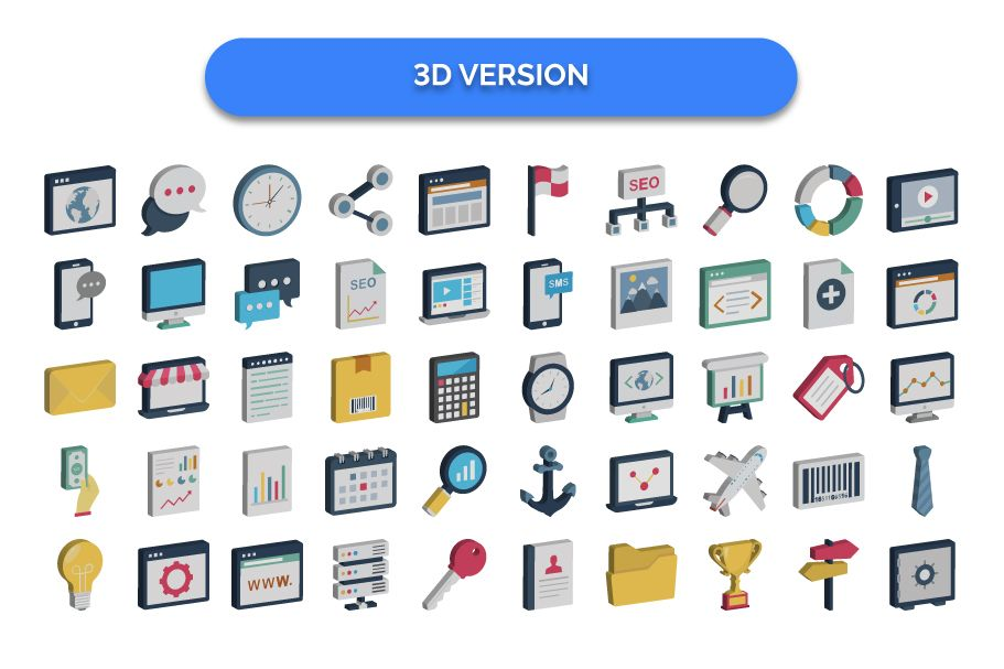 150 Digital Marketing Vector Icons Pack by PromotionKing ...