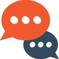 100 Text Message Speech Bubbles Color Vector Icon