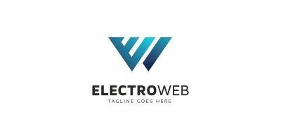 W Letter - Electro Web Logo