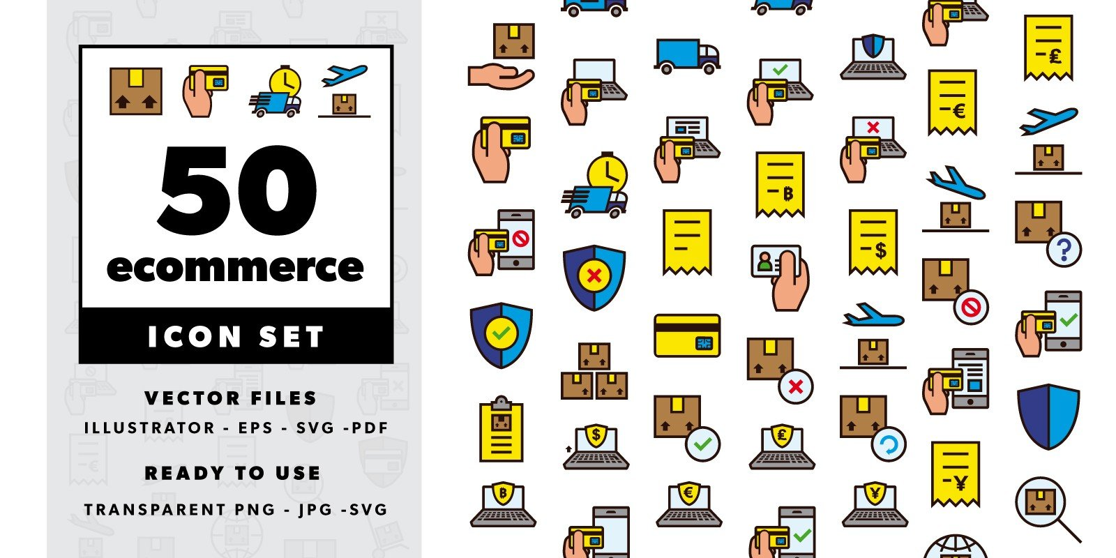 50 Ecommerce Color Icons
