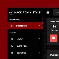 Hack Admin Dark - Admin HTML Template.