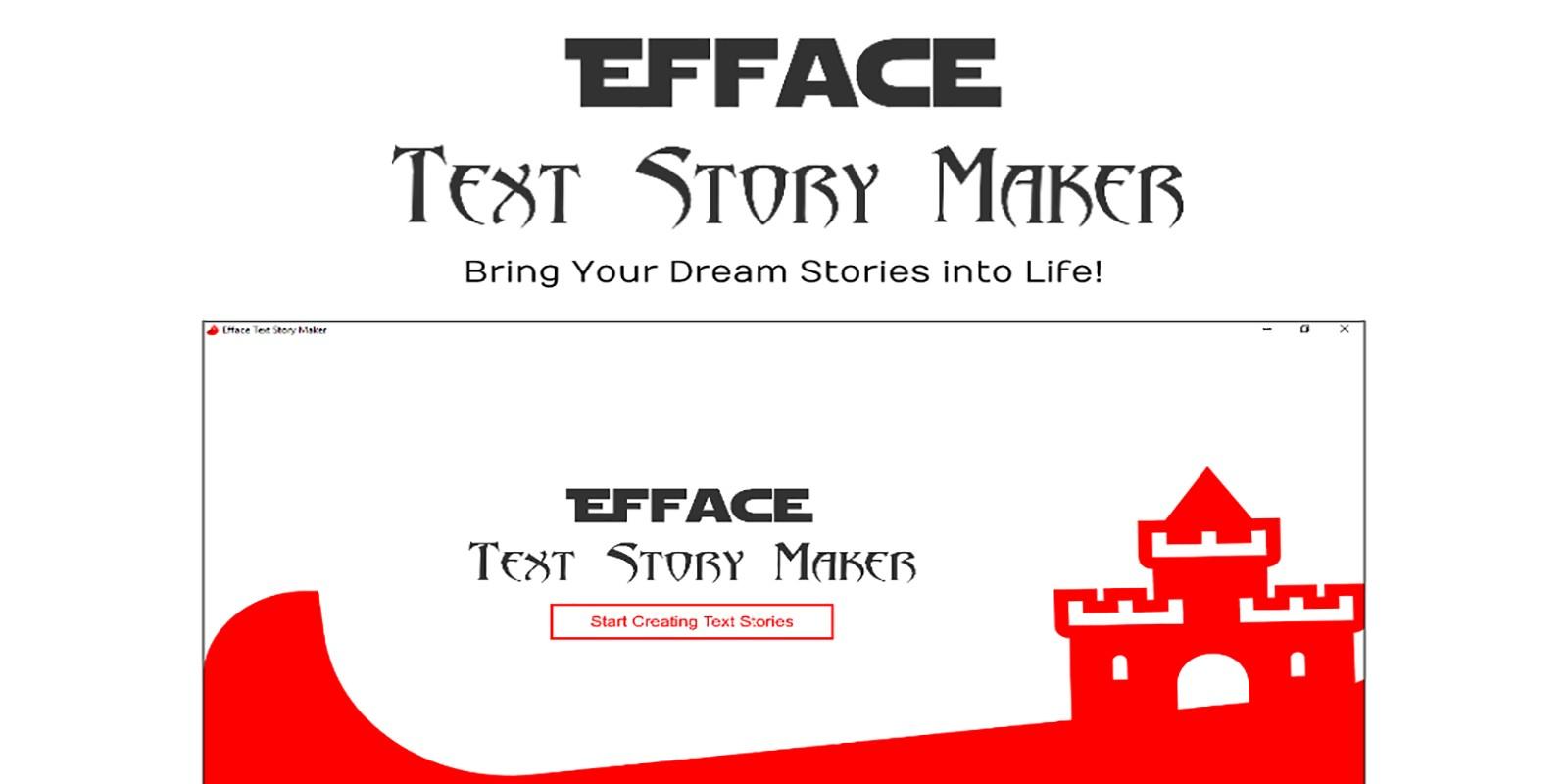 Efface Text Story Maker .NET