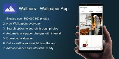 Wallpers - Wallpaper Android App With Admob