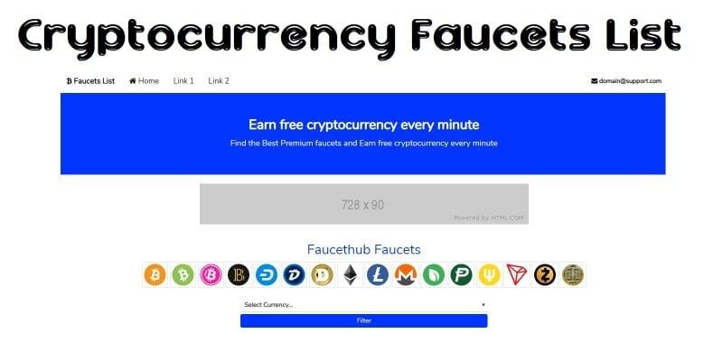 Cryptocurrency faucet list sites para ganhar bitcoins definition