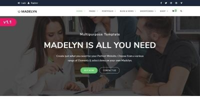 Madelyn - Bootstrap HTML Template