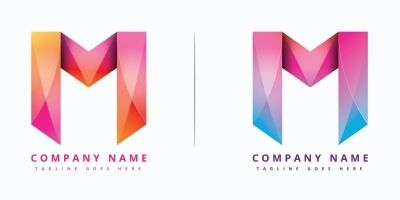 Modern And Colorful M Logo Design - Vector