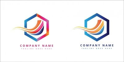 Futuristic Colorful Corporate Company logo