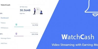 WatchCash - Video Stream With Earning Money Script