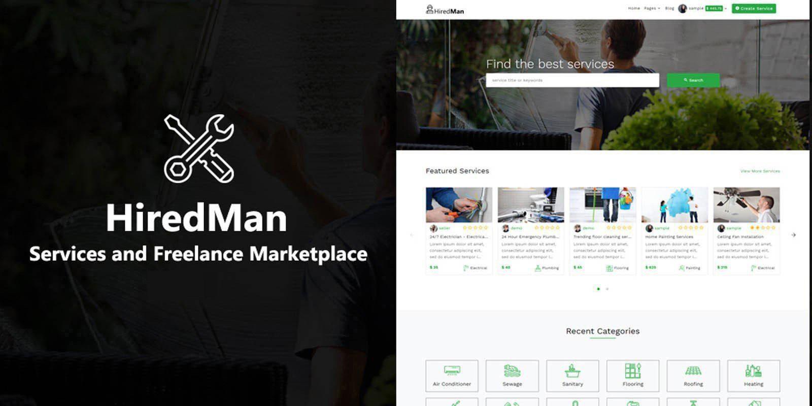 HiredMan - Services Freelance Marketplace Script