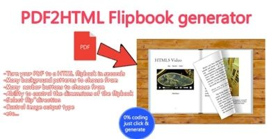Advanced PDF to HTML Flipbook Generator C#
