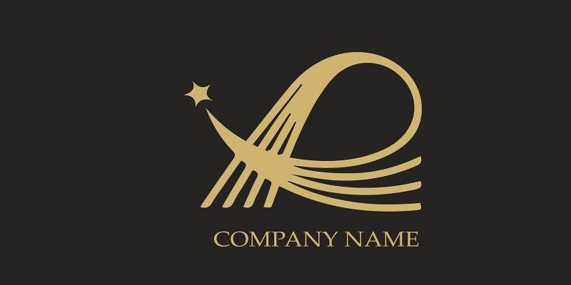 Elegant Letter With Star Logo