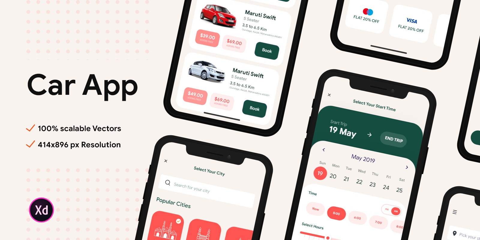 Car Rental App UI