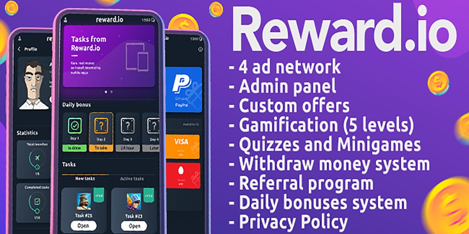 Reward.io – Exclusive Reward App For Android