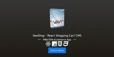 VamShop - React Shopping Cart CMS