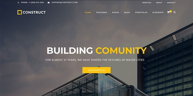 Construct - Construction Business HTML Template