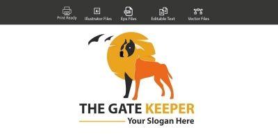 The Gate Keeper - Dog Logo