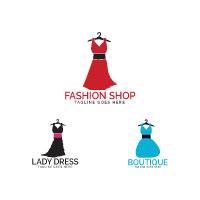 Dress Boutique Or Fashion Atelier Salon Logo