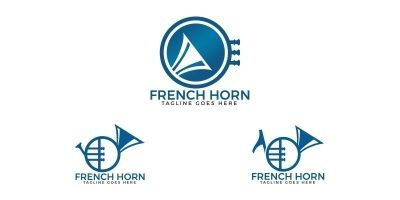 French Horn Logo Set