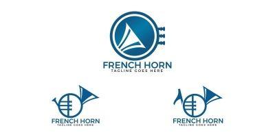 French Horn Logo Set