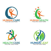 Abstract Human Health Care Logo