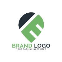 Map Pin Letter E Vector Logo