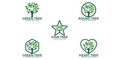Tree Logos Set Design