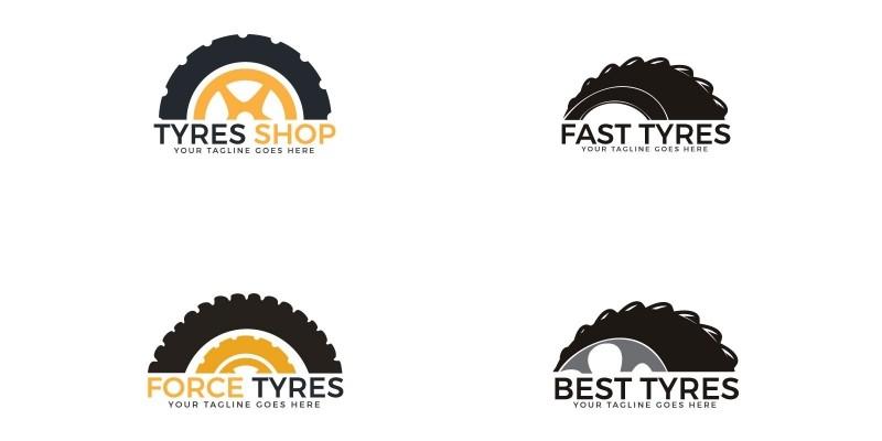 Set Of Tyres Logo Designs