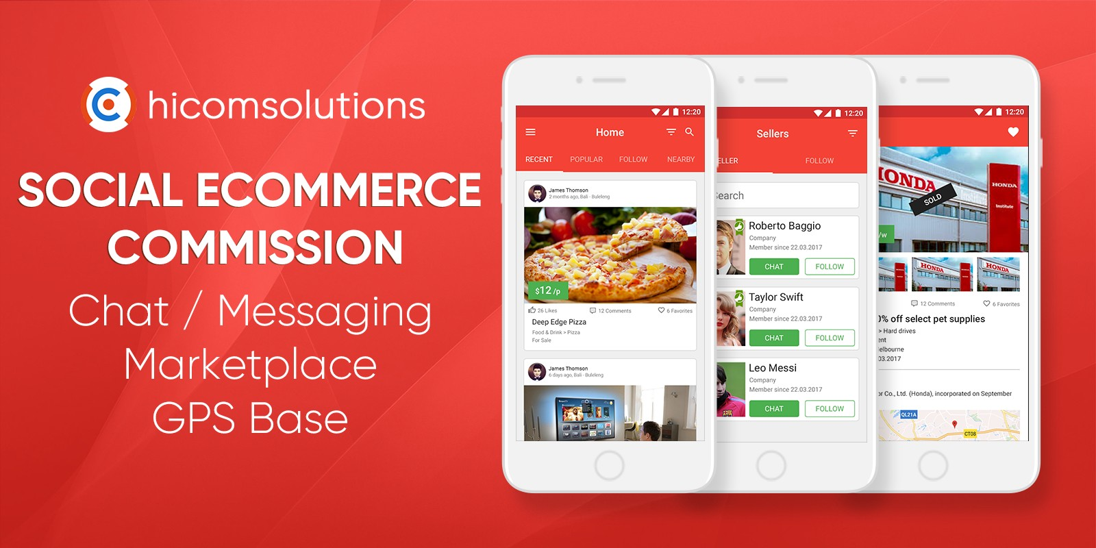 Social eCommerce Marketplace Commission - iOS