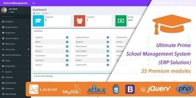 Ultimate Prime School Management System Script