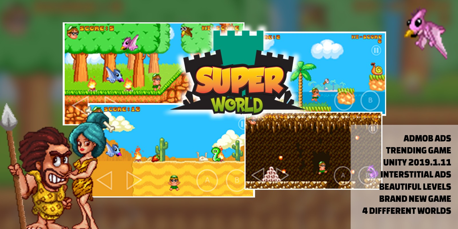 Super World - Unity Source Code