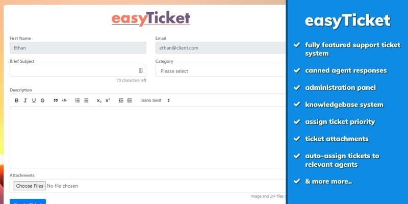 easyTicket - Support Ticket Knowledgebase Script