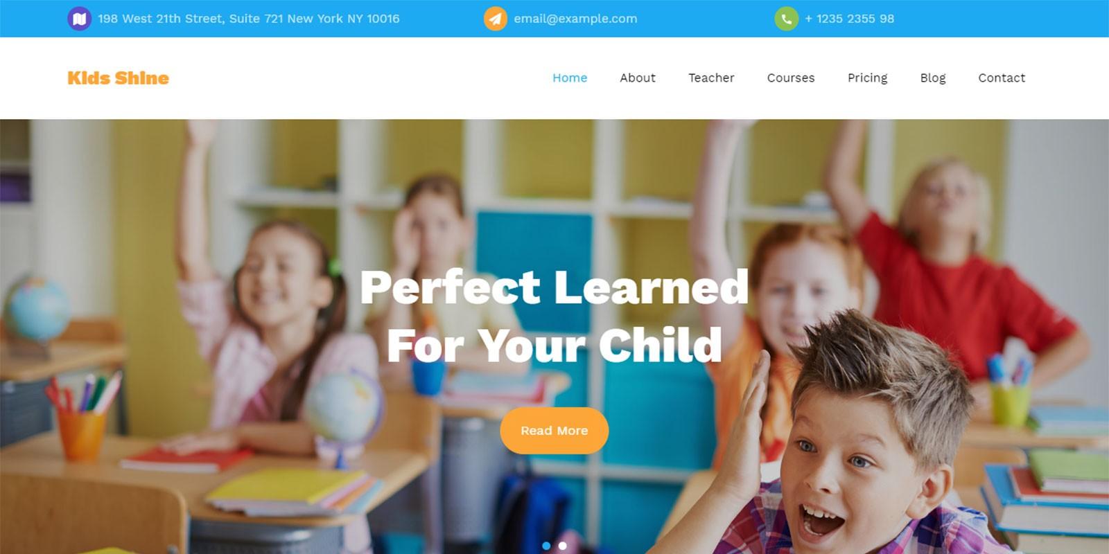 Kids Shine Multipurpose Primary School Template