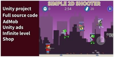 Simple 2d Shooter - Unity Game
