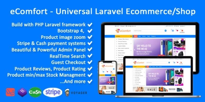Ecomfort - Universal Laravel Voyager Shop
