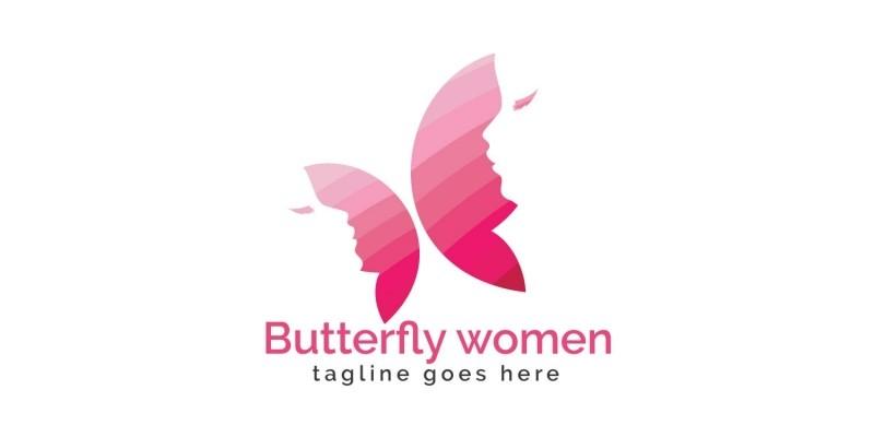Butterfly Women Logo Design