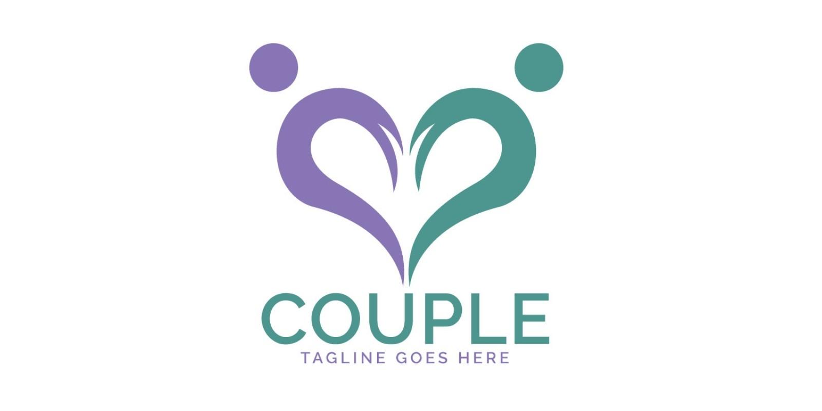 Heart Couple Logo Design