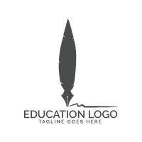 ​Nib And Feather Logo Design