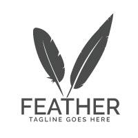 Feather Elegant Logo Design
