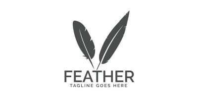 Feather Elegant Logo Design