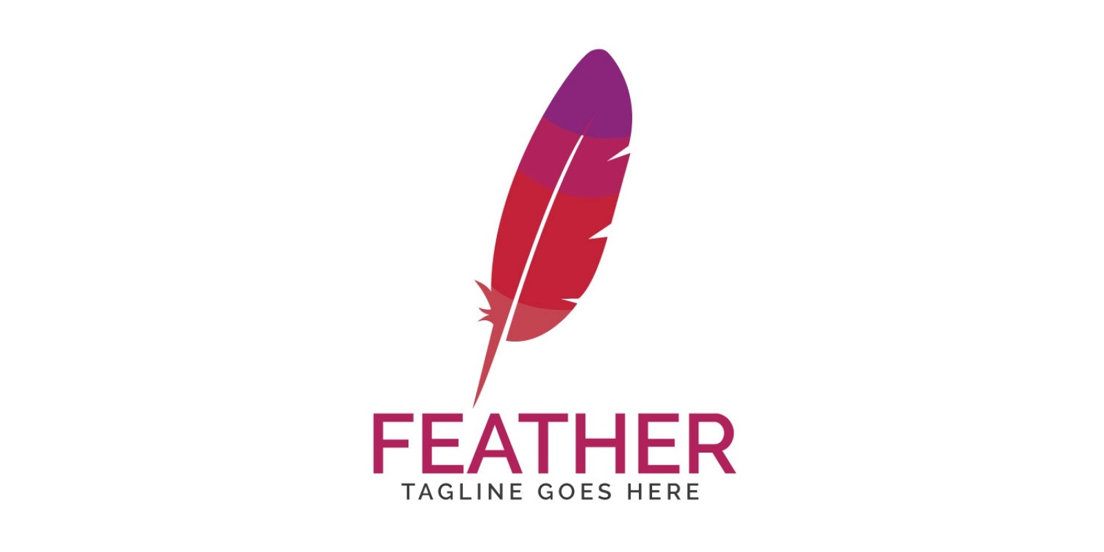 Feather Elegant Pen Logo Design