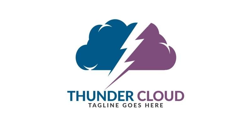 Thunder Cloud Logo Design