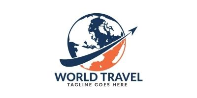 World Travel Logo Design