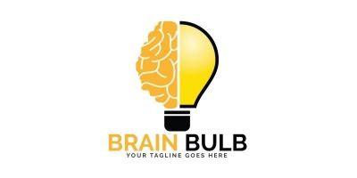 Brain Bulb Logo Design
